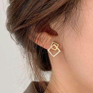 Rhinestone Geometric Decor Earrings